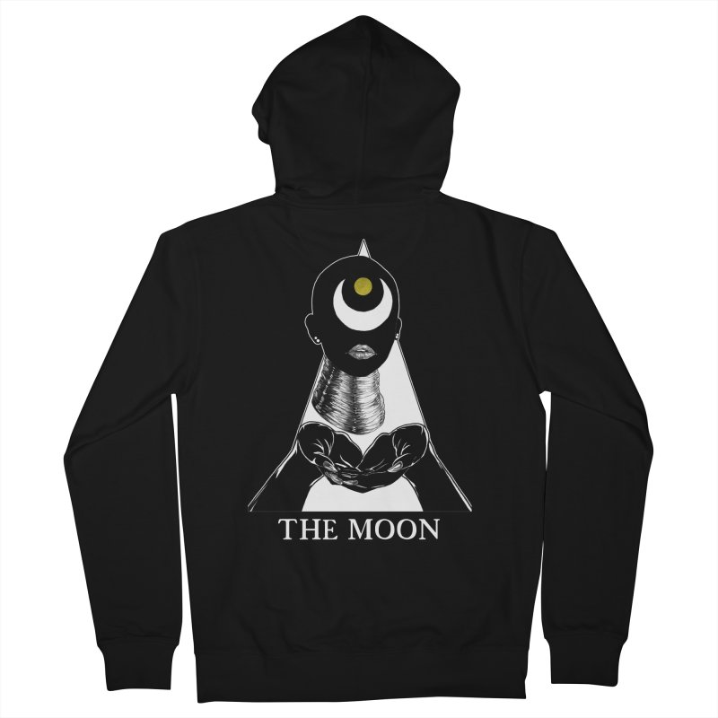 The Moon Women's French Terry Zip-Up Hoody by The Ink Maiden