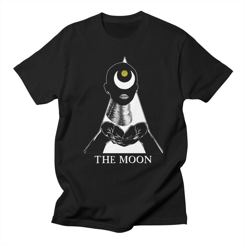 The Moon Women's Regular Unisex T-Shirt by The Ink Maiden