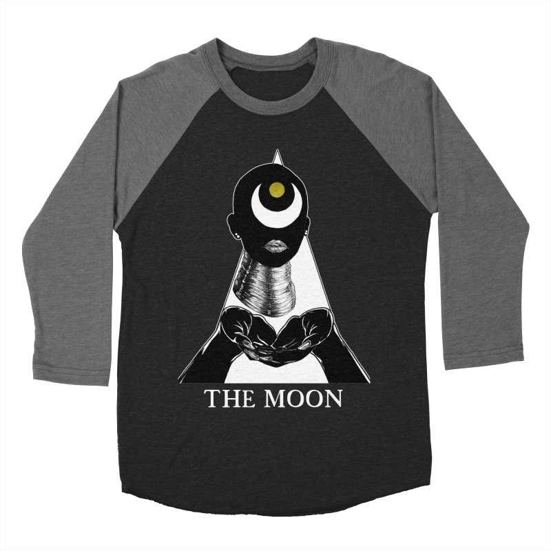 The Moon Women's Baseball Triblend Longsleeve T-Shirt by The Ink Maiden