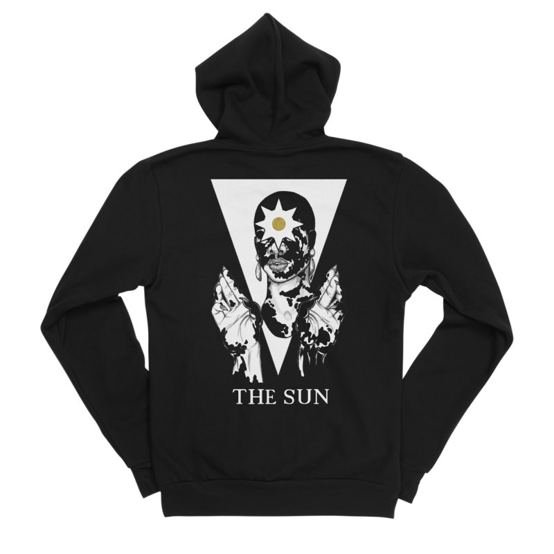 The Sun Men's Sponge Fleece Zip-Up Hoody by The Ink Maiden