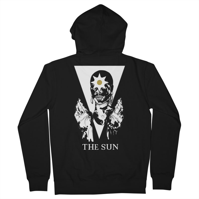 The Sun Men's French Terry Zip-Up Hoody by The Ink Maiden