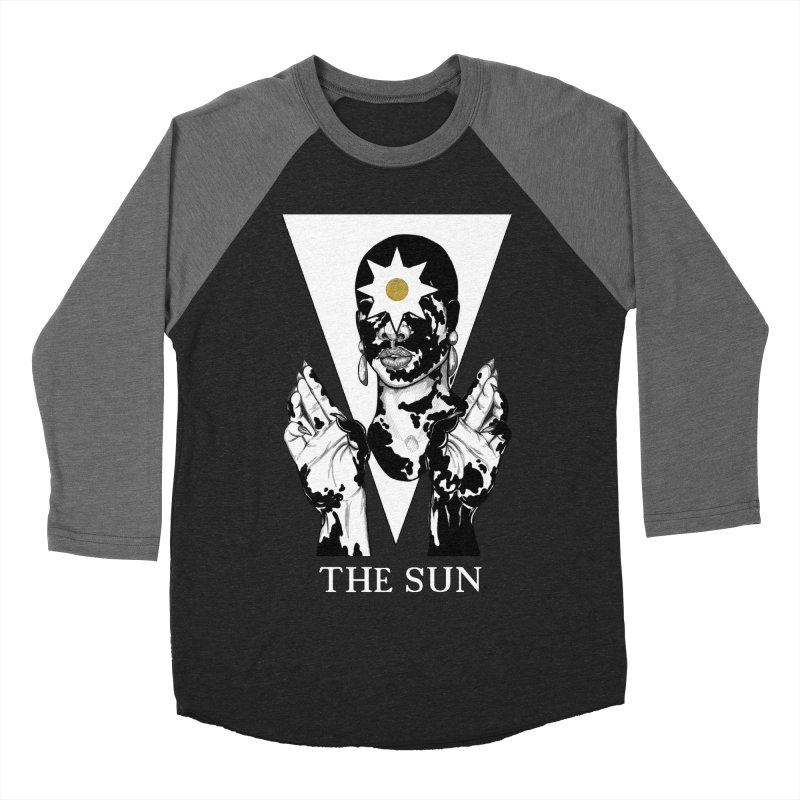 The Sun Women's Baseball Triblend Longsleeve T-Shirt by The Ink Maiden