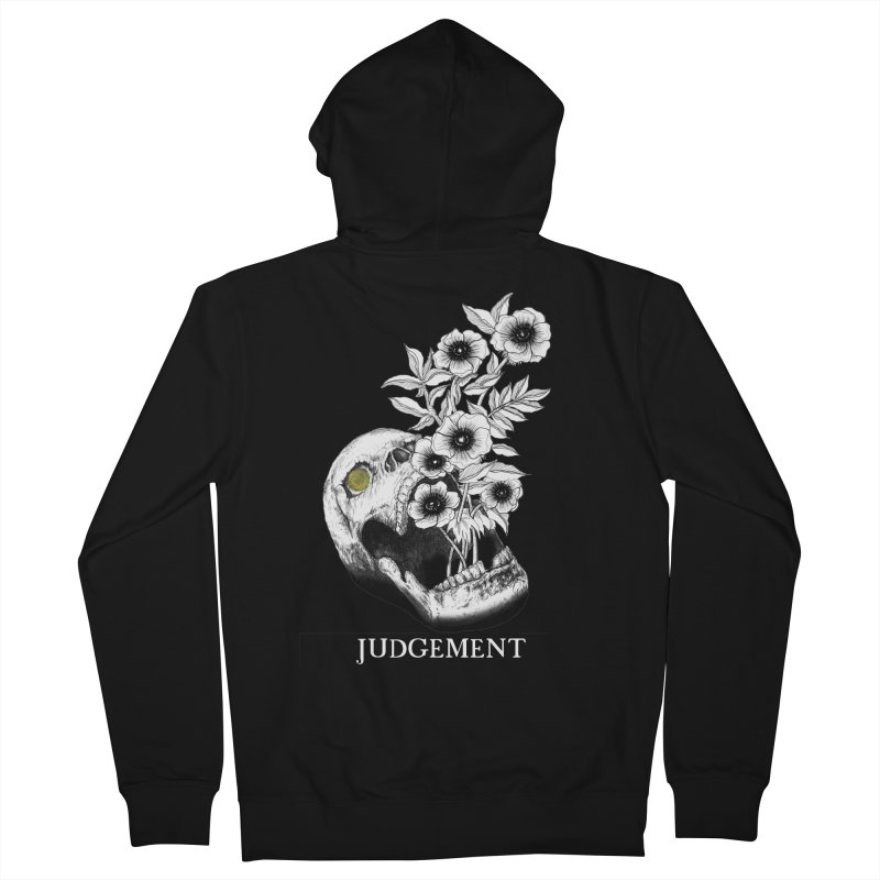 Judgement Men's French Terry Zip-Up Hoody by The Ink Maiden