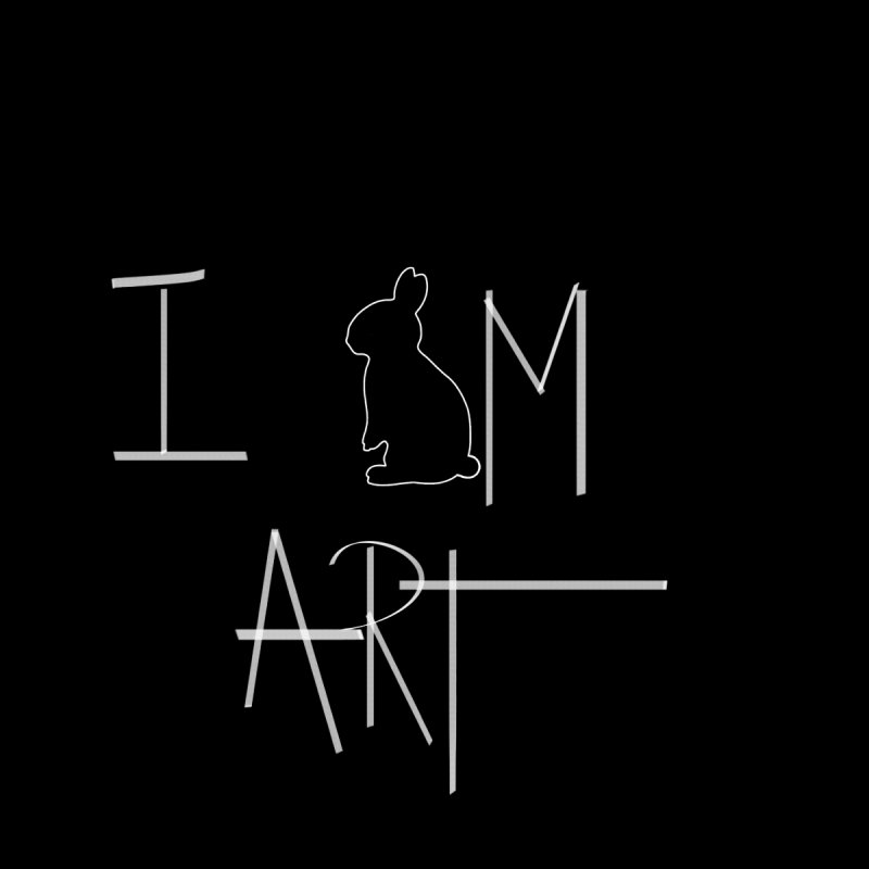 I AM ART by DUVAL white by Jano Lapin's Bunny Boutique