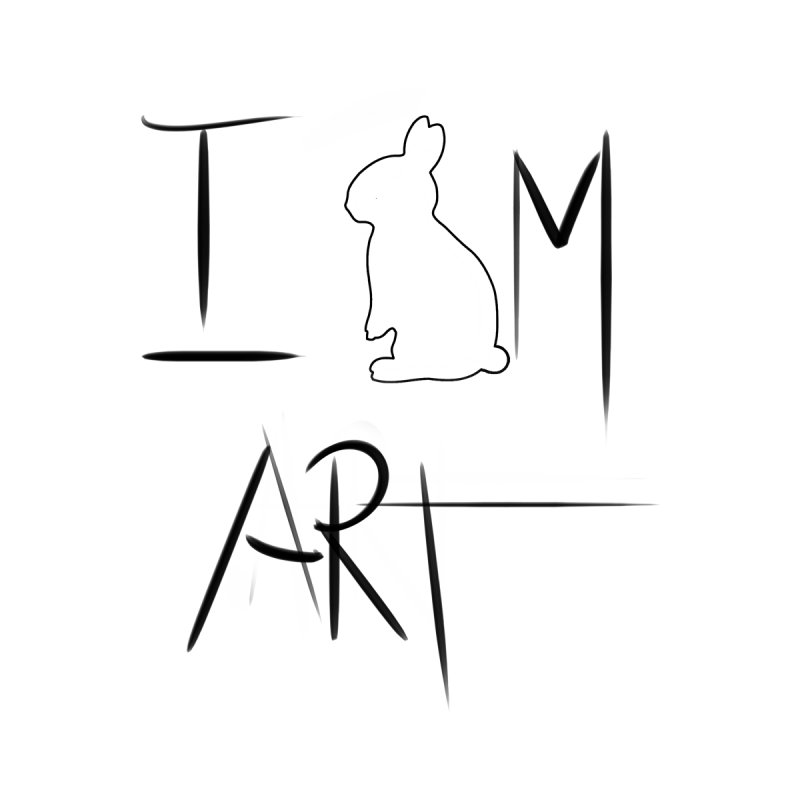 I AM ART by DUVAL by Jano Lapin's Bunny Boutique