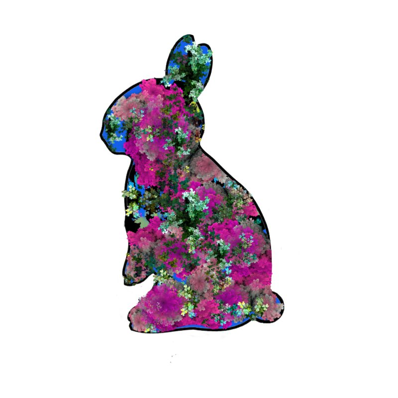"""Flower Power Bunny 1"" by Irene Smirnova for Jano Lapin by Jano Lapin's Bunny Boutique"