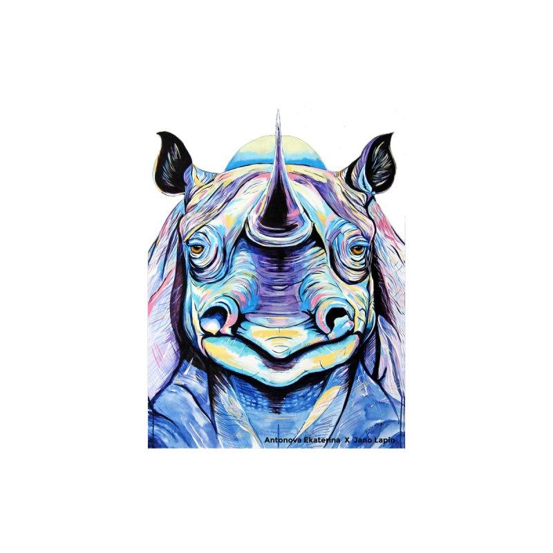 """""""Rhino"""" by Antonova Ekaterina by Jano Lapin's Bunny Boutique"""