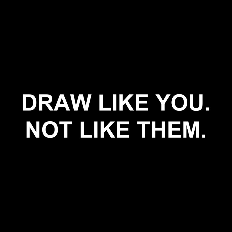 Draw Like You Women's V-Neck by Jason Copland's Artist Shop