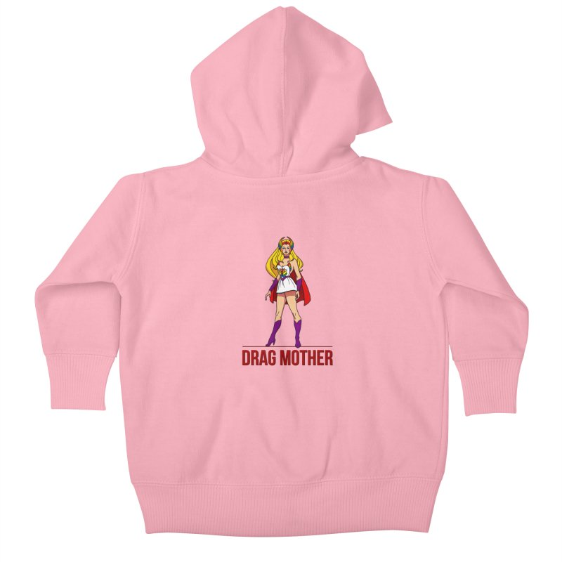 Drag Mother Kids Baby Zip-Up Hoody by Jason Lloyd Art