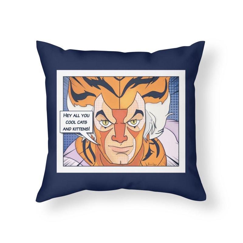 Cool Cats Home Throw Pillow by Jason Lloyd Art