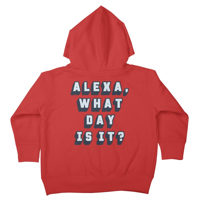 What Day Is It Kids Toddler Zip-Up Hoody by Jason Lloyd Art