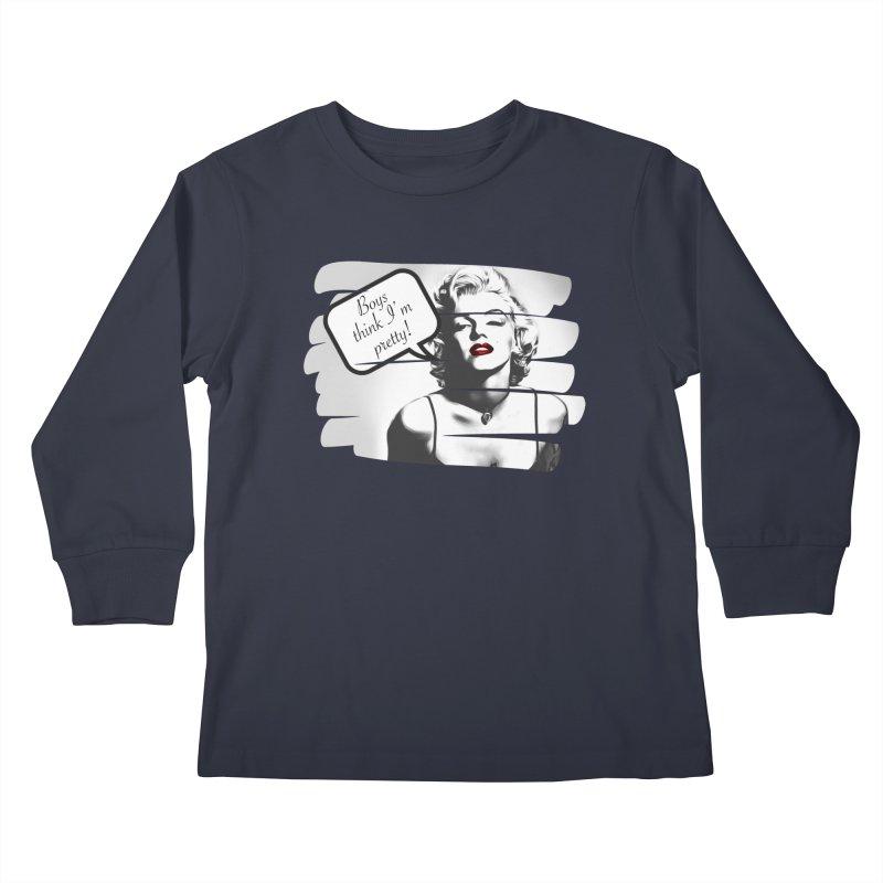 Think I'm Pretty Kids Longsleeve T-Shirt by Jason Lloyd Art