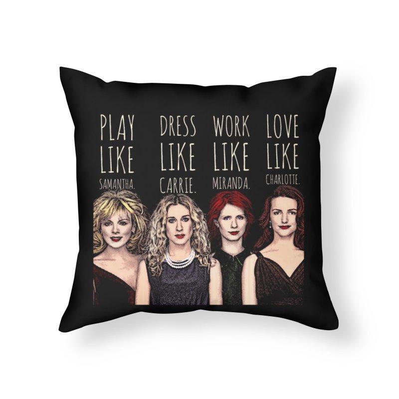 SATC Home Throw Pillow by Jason Lloyd Art