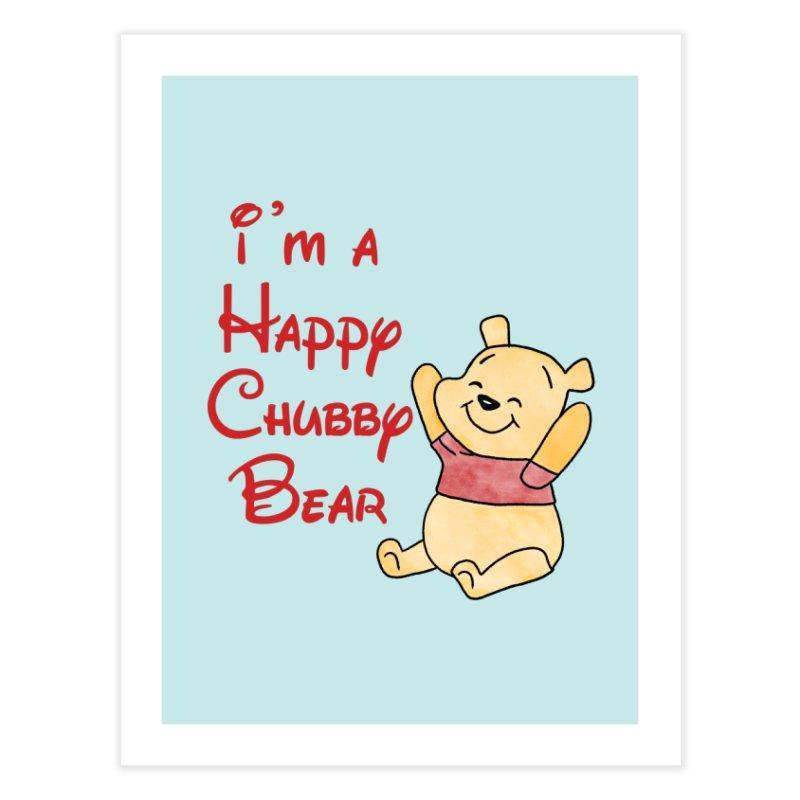 Chubby Bear Home Fine Art Print by Jason Lloyd Art