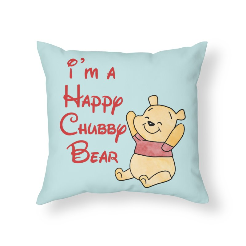Chubby Bear Home Throw Pillow by Jason Lloyd Art