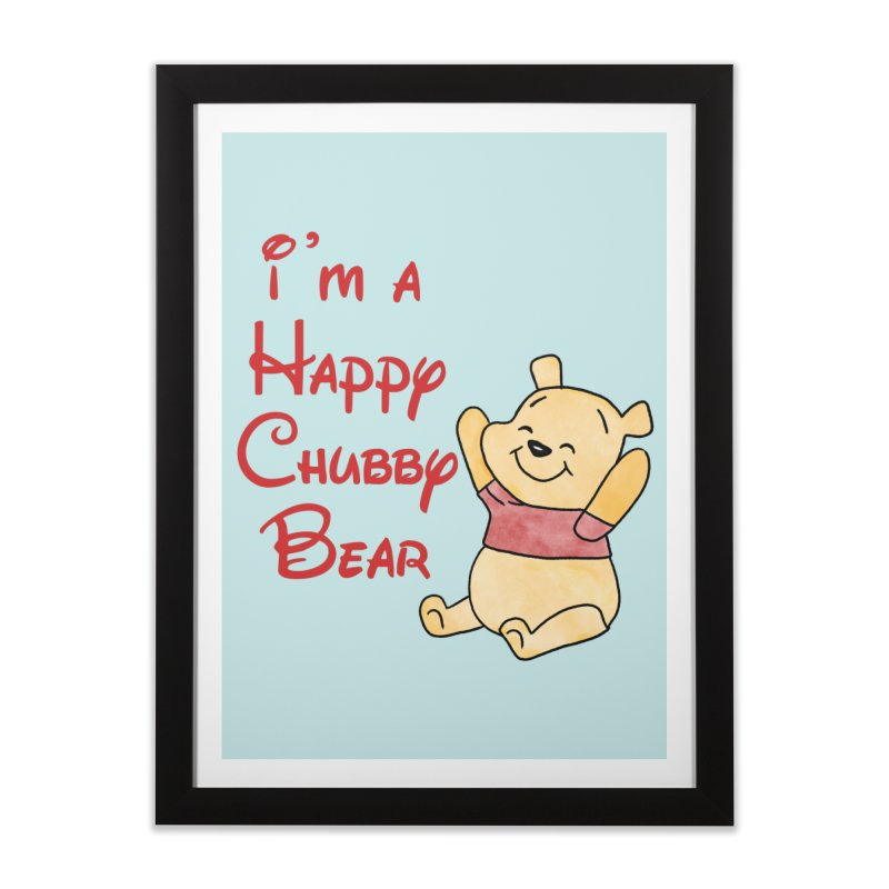 Chubby Bear Home Framed Fine Art Print by Jason Lloyd Art