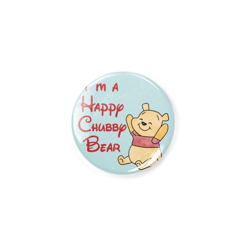 Chubby Bear Accessories Button by Jason Lloyd Art