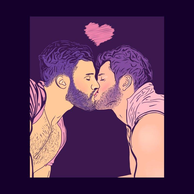 Kiss Him Men's T-Shirt by Jason Lloyd Art
