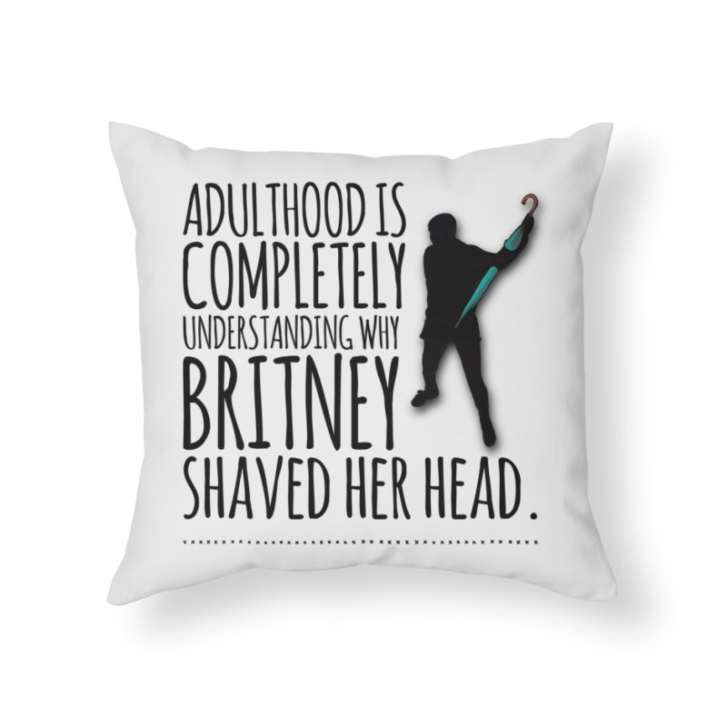 Adulthood Home Throw Pillow by Jason Lloyd Art