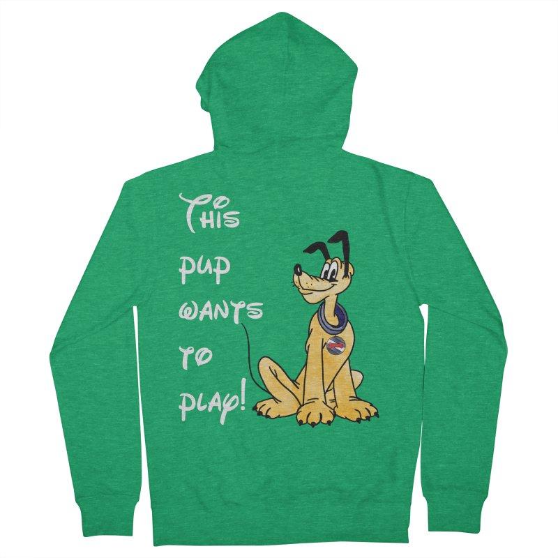 This Pup... Men's Zip-Up Hoody by Jason Lloyd Art