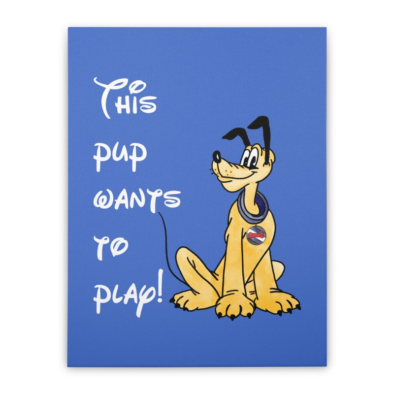 This Pup... Home Stretched Canvas by Jason Lloyd Art