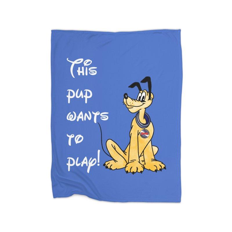 This Pup... Home Blanket by Jason Lloyd Art