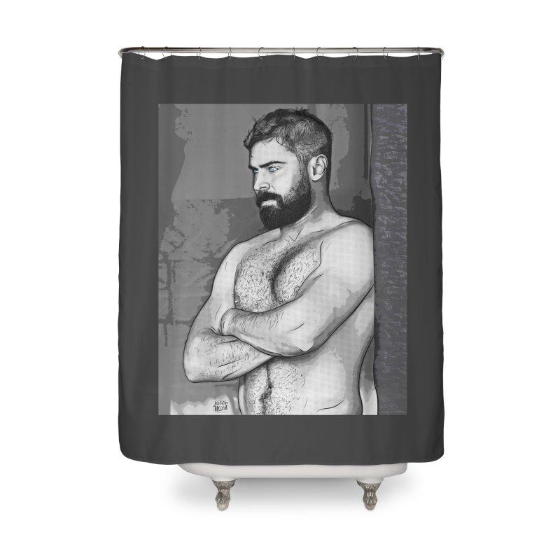 Zaddy Zac Home Shower Curtain by Jason Lloyd Art