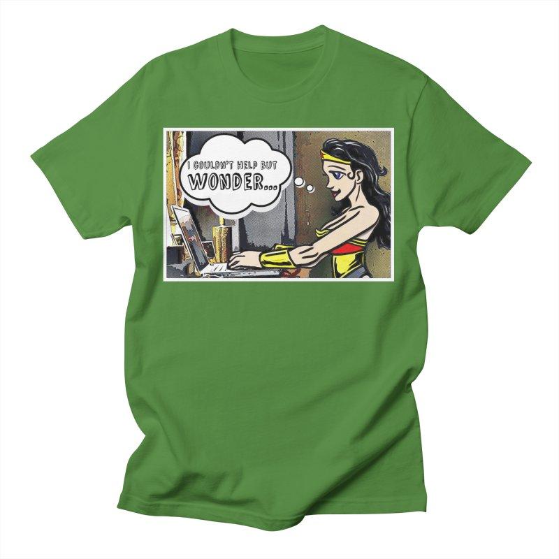 Couldn't Help But Wonder Men's T-Shirt by Jason Lloyd Art