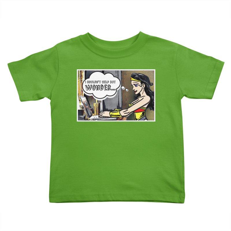 Couldn't Help But Wonder Kids Toddler T-Shirt by Jason Lloyd Art