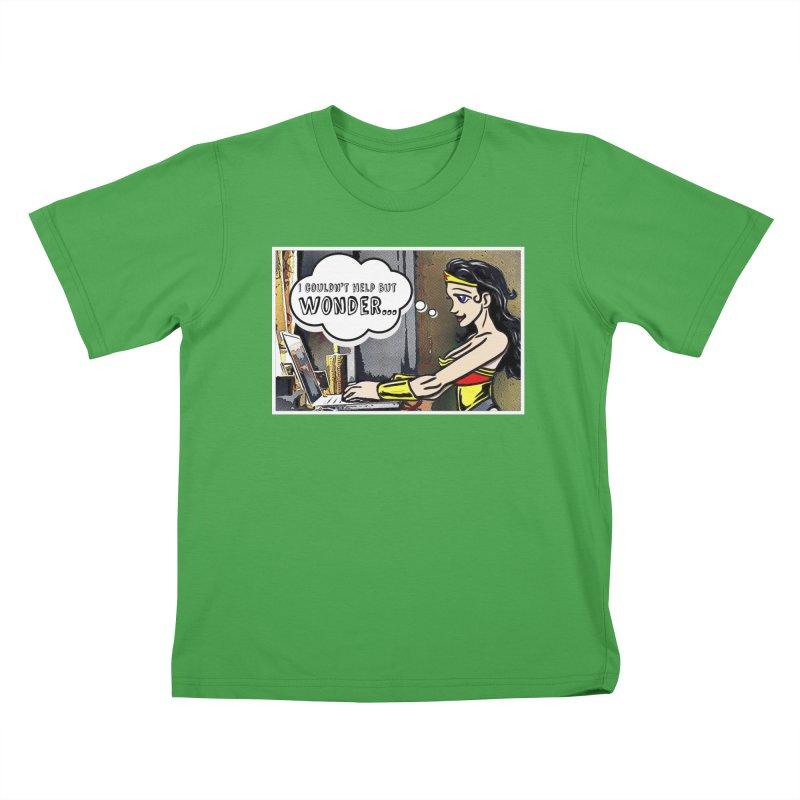 Couldn't Help But Wonder Kids T-Shirt by Jason Lloyd Art