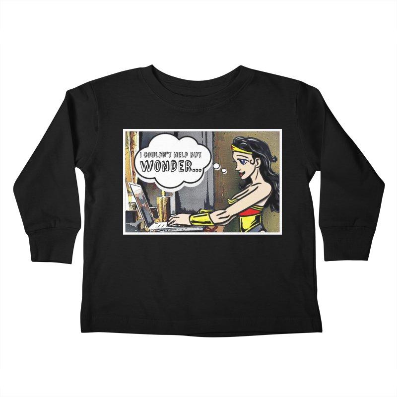 Couldn't Help But Wonder Kids Toddler Longsleeve T-Shirt by Jason Lloyd Art
