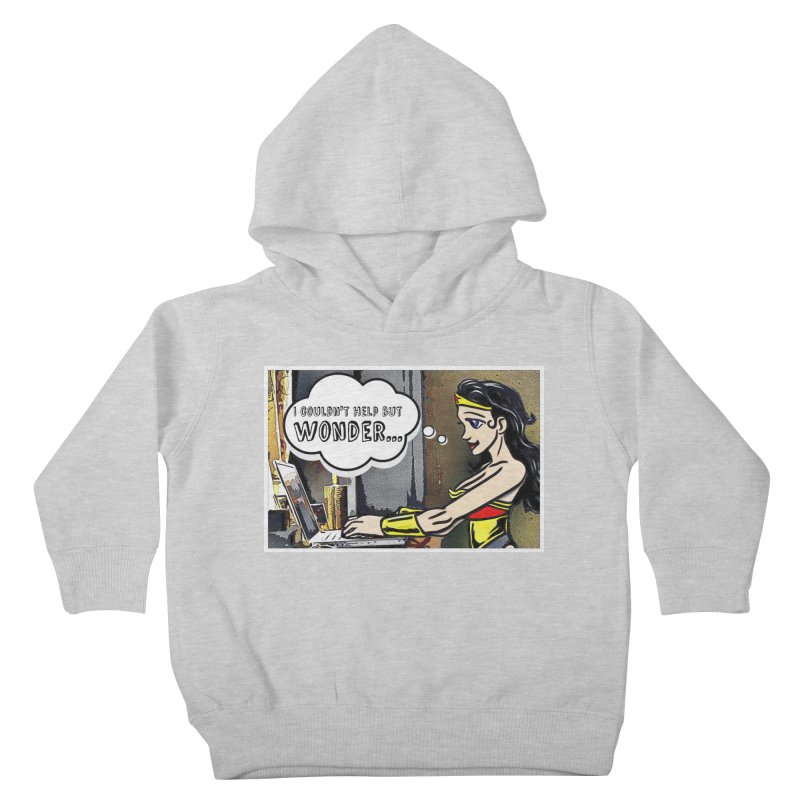 Couldn't Help But Wonder Kids Toddler Pullover Hoody by Jason Lloyd Art