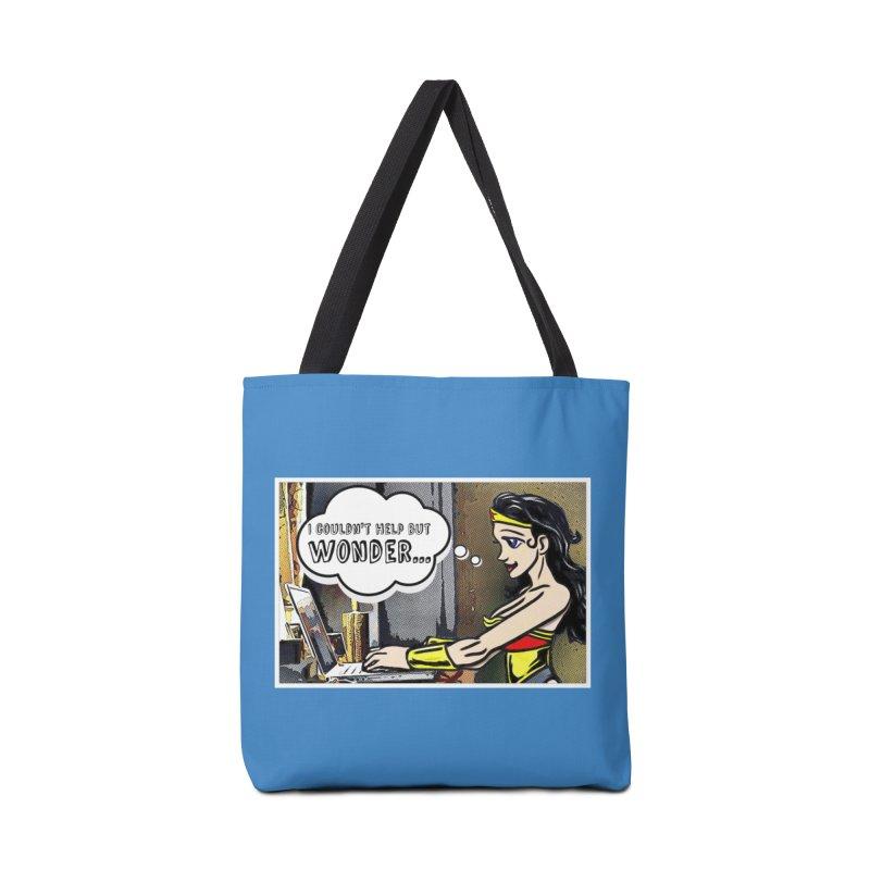 Couldn't Help But Wonder Accessories Bag by Jason Lloyd Art