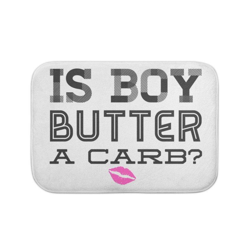 Boy Butter Home Bath Mat by Jason Lloyd Art