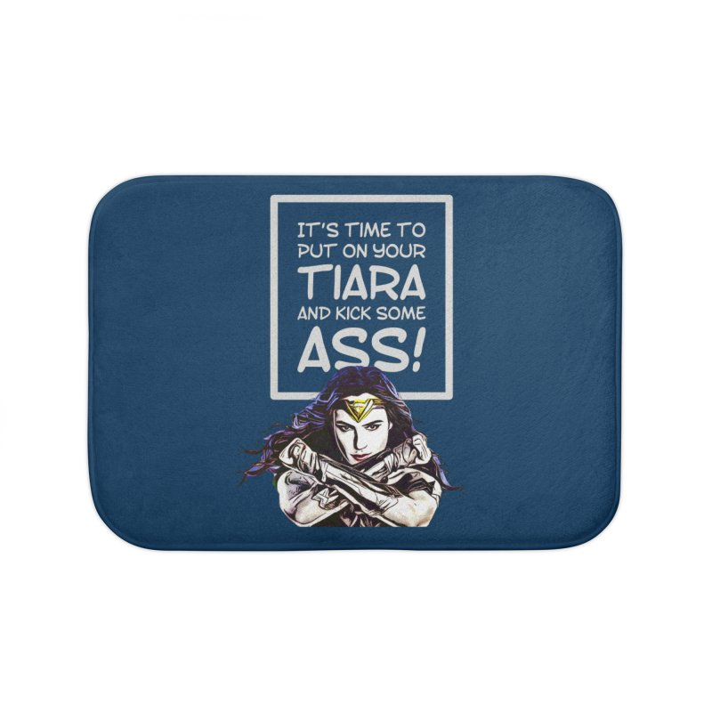 Put On Your Tiara Home Bath Mat by Jason Lloyd Art