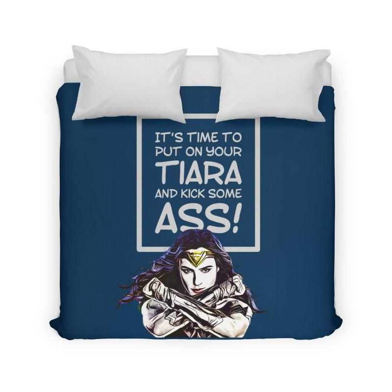 Put On Your Tiara Home Duvet by Jason Lloyd Art