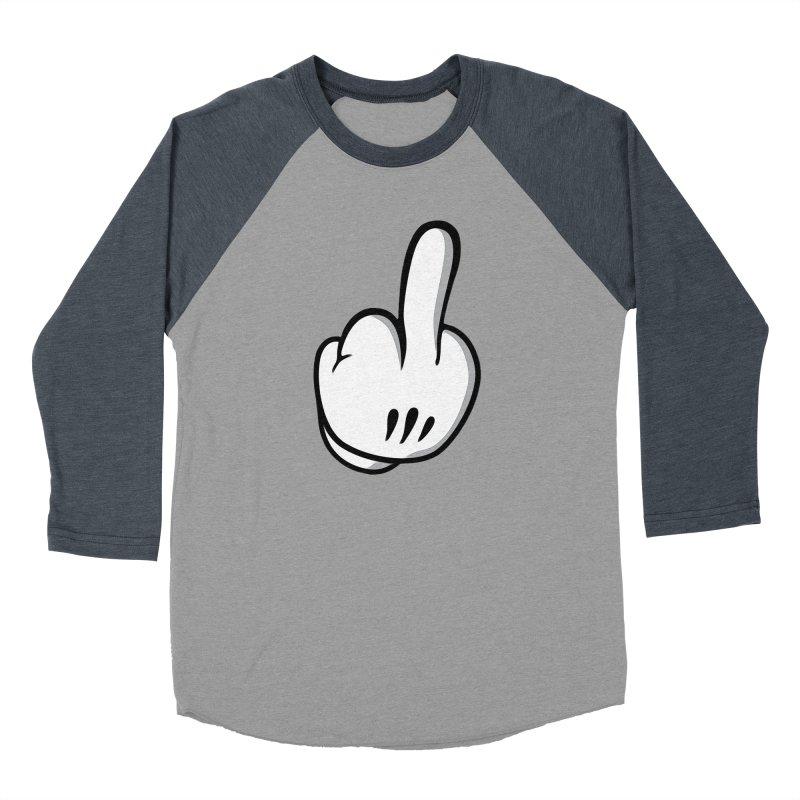 Middle Finger Glove Men's Longsleeve T-Shirt by Jason Lloyd Art
