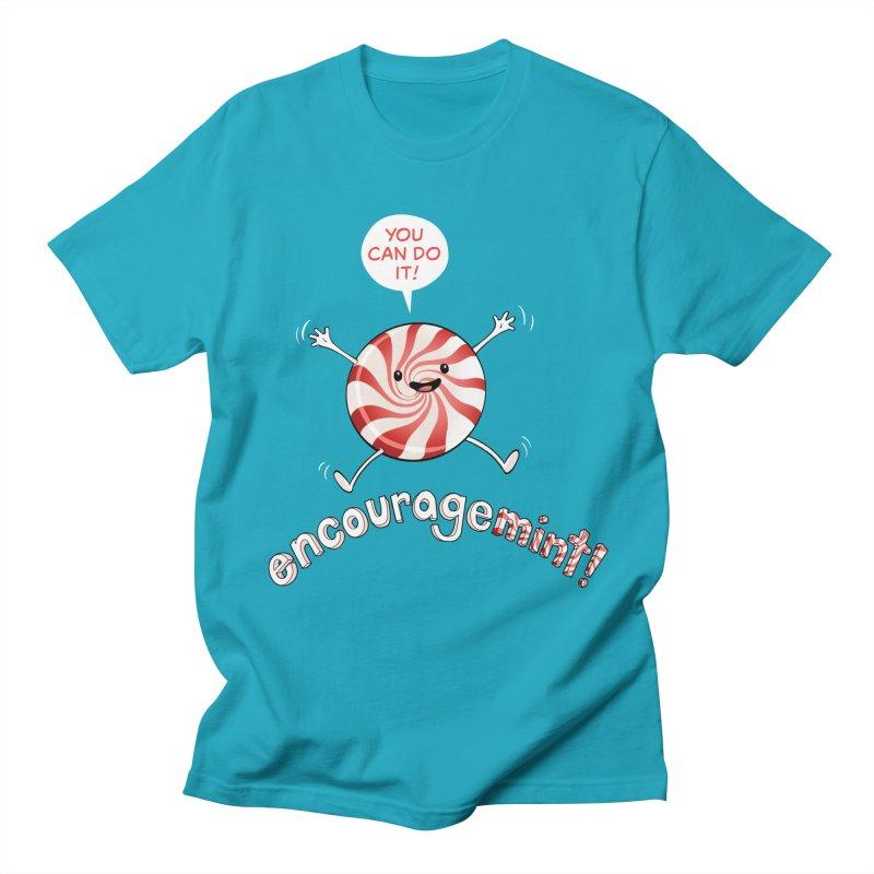 Encouragemint (Red Peppermint) Men's T-Shirt by Jason Piperberg's Artist Shop