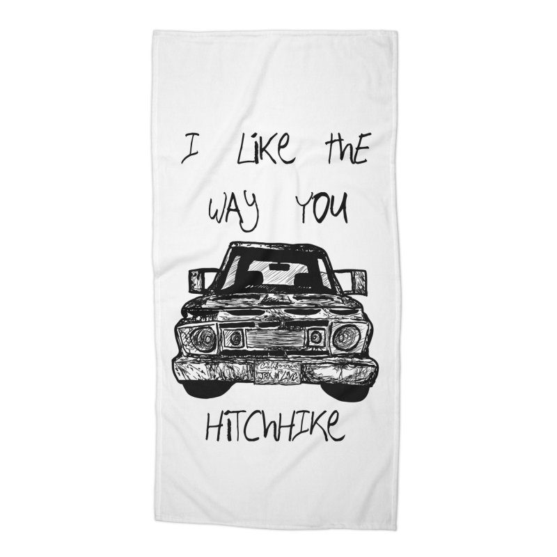 I Like The Way You Hitchhike - JAX IN LOVE Accessories Beach Towel by Cyclamen Films Merchandise