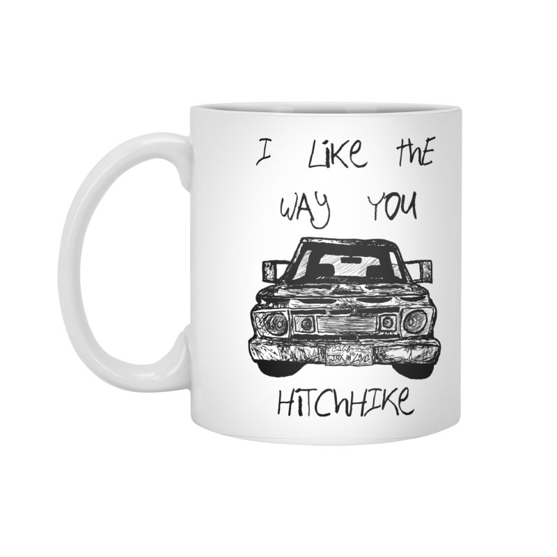 I Like The Way You Hitchhike - JAX IN LOVE Accessories Standard Mug by Cyclamen Films Merchandise