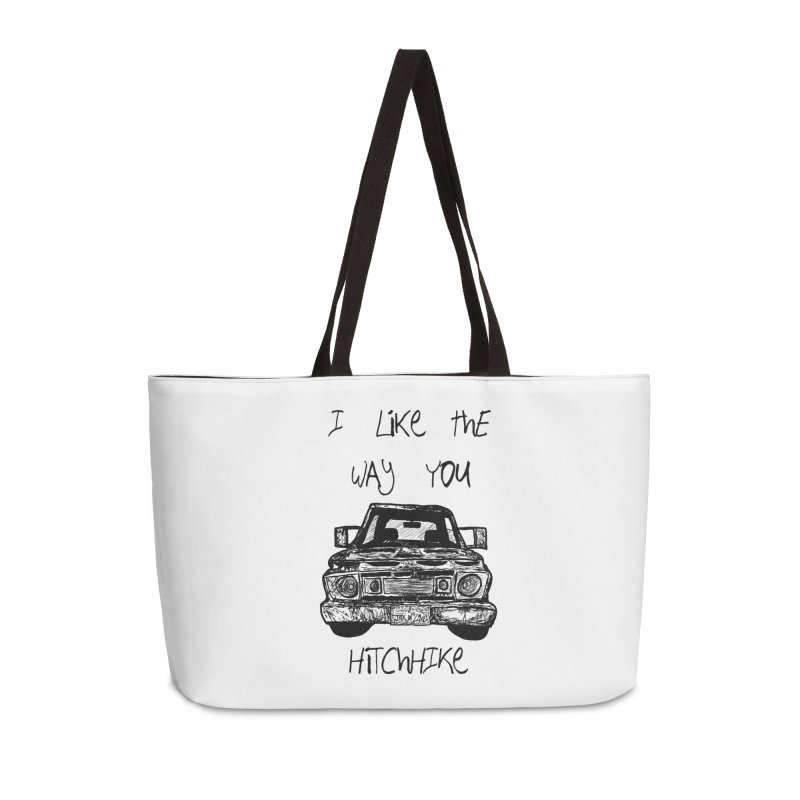 I Like The Way You Hitchhike - JAX IN LOVE Accessories Weekender Bag Bag by Cyclamen Films Merchandise