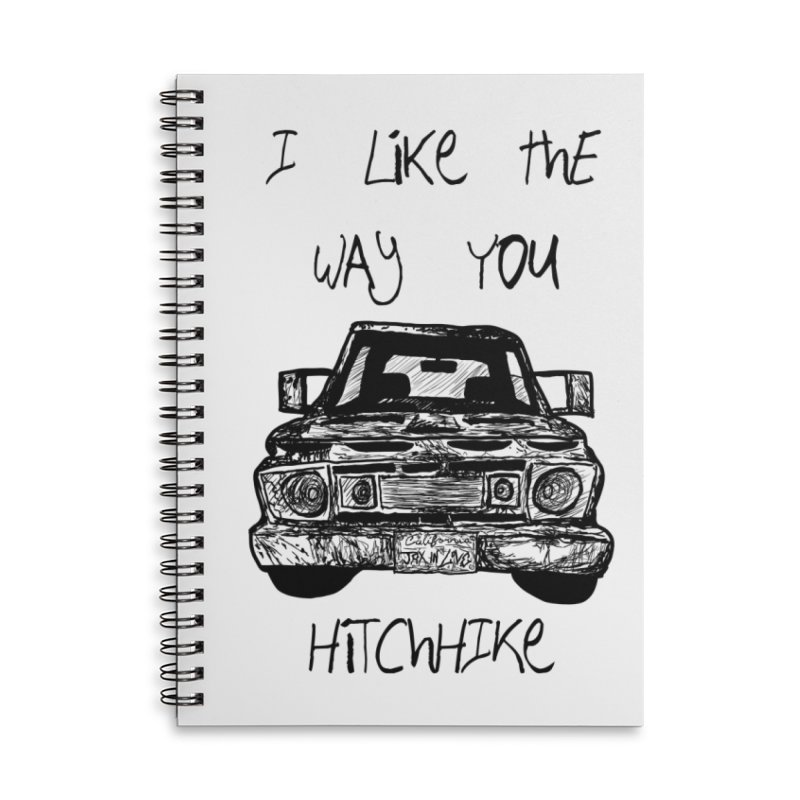 I Like The Way You Hitchhike - JAX IN LOVE Accessories Lined Spiral Notebook by Cyclamen Films Merchandise