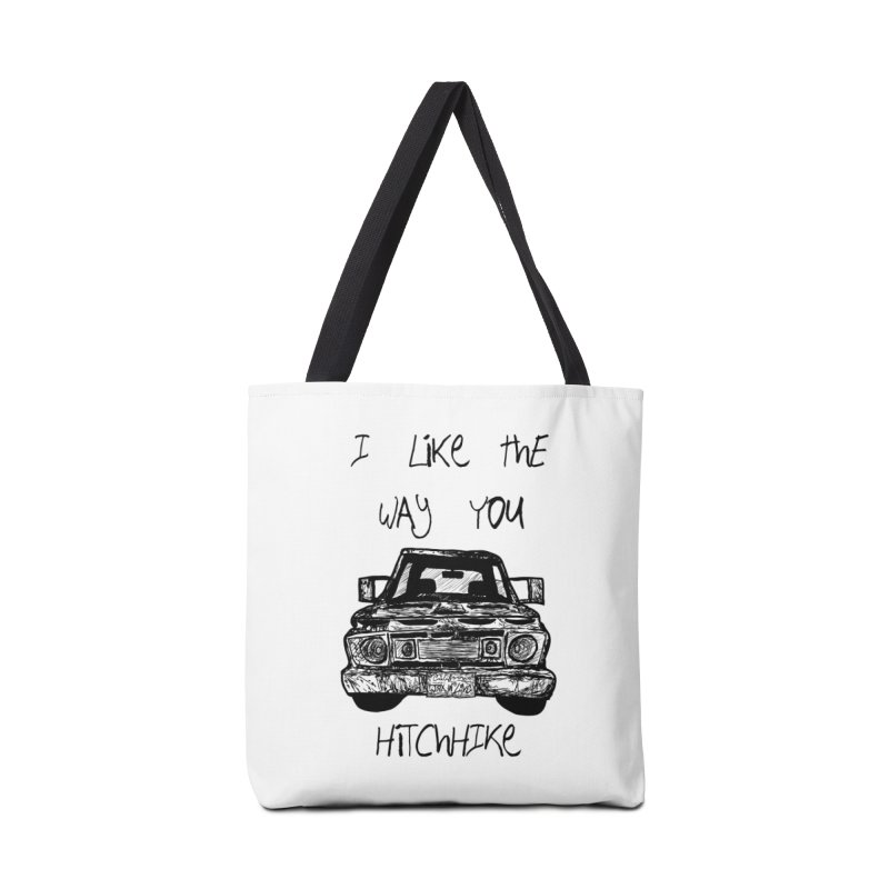 I Like The Way You Hitchhike - JAX IN LOVE Accessories Tote Bag Bag by Cyclamen Films Merchandise