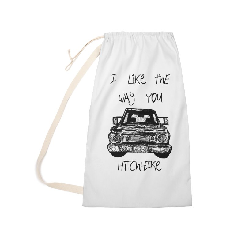 I Like The Way You Hitchhike - JAX IN LOVE Accessories Laundry Bag Bag by Cyclamen Films Merchandise