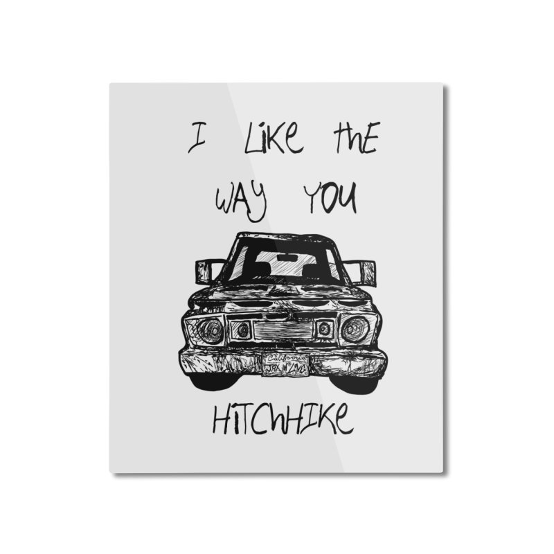 I Like The Way You Hitchhike - JAX IN LOVE Home Mounted Aluminum Print by Cyclamen Films Merchandise