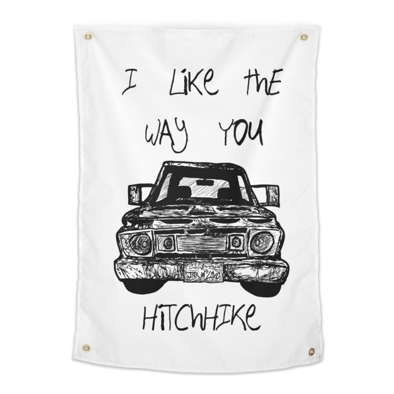 I Like The Way You Hitchhike - JAX IN LOVE Home Tapestry by Cyclamen Films Merchandise