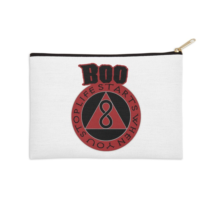 BOO - Life Starts When You Stop Coin Accessories Zip Pouch by Cyclamen Films Merchandise