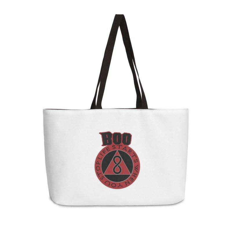 BOO - Life Starts When You Stop Coin Accessories Weekender Bag Bag by Cyclamen Films Merchandise