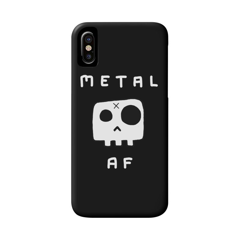 Metal AF in white font Accessories Phone Case by JayDrawsThings's Artist Shop