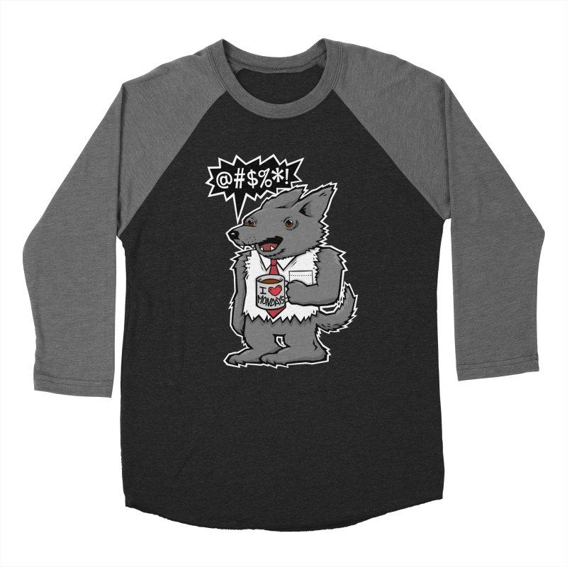 SwearWolf Men's Baseball Triblend T-Shirt by Jayme T-shirts